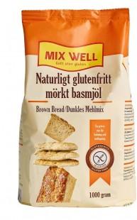 Naturligt glutenfritt mörkt basmjöl
