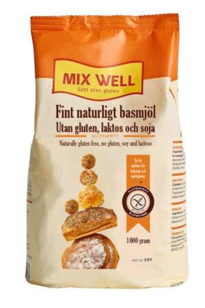 Fint naturligt basmjöl utan gluten laktos och soja