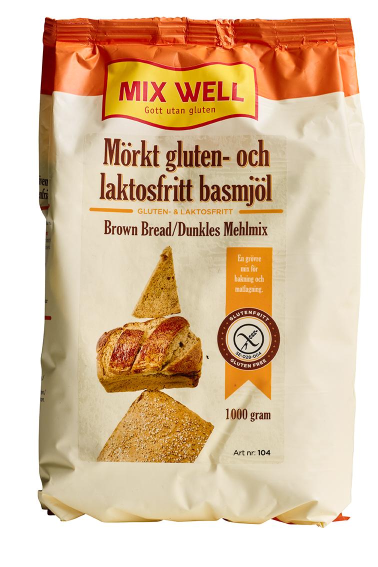Gluten och laktosfritt mörkt basmjöl