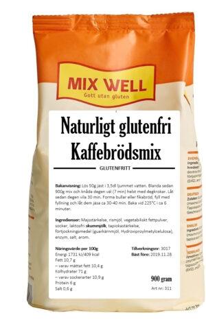 Naturligt glutenfri kaffebrödsmix