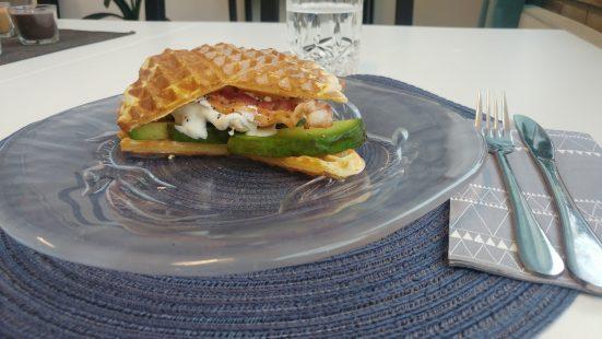 Våffel club sandwich